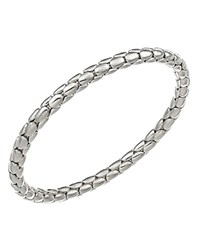 Chimento 18K White Gold Stretch Spring Collection Disc Rope Bracelet