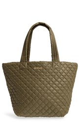 M Z Wallace Mz 'Medium Metro' Quilted Oxford Nylon Tote Green Pine Oxford