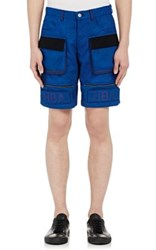 Hood By Air Men's Moma Cargo Shorts Blue