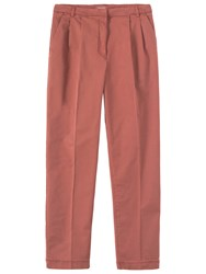 Toast George Pleat Front Trousers Old Rose
