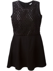 Carven Perforated Dress Black