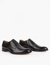Maison Martin Margiela Black Leather Slip On Derby Shoes