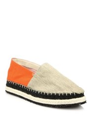 Acne Studios Colorblock Cotton Espadrille Flats Linen