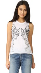 Chaser Mirror Tigers Tank White