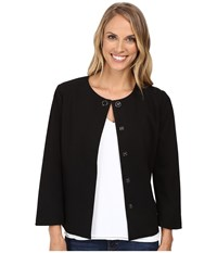 Nydj Snap Front Jacket Black Women's Coat