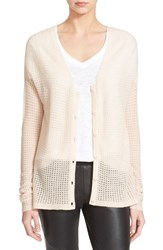 Women's Atm Anthony Thomas Melillo 'Cozy' Open Knit Cashmere Cardigan Ballet