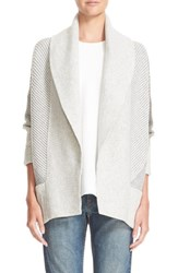 Vince Women's Colorblock Rib Circle Wool And Cashmere Cardigan
