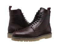 Fred Perry Northgate Boot Leather Oxblood Black Men's Boots Brown