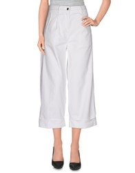 Pinko Tag Trousers 3 4 Length Trousers Women White