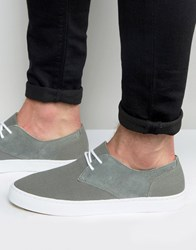 Pointer Chester Plimsoll In Canvas And Suede Grey