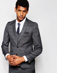 French Connection Self Check Suit Jacket Grey