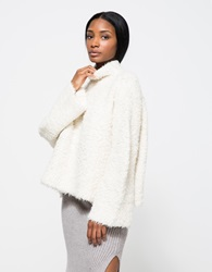 Lauren Manoogian Sherpa Pull Over White