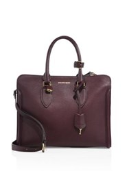 Alexander Mcqueen Heroine Large Leather Open Tote Purple