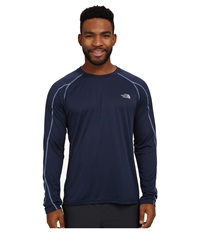 The North Face Voltage Long Sleeve Crew Shirt Cosmic Blue Parisian Blue Men's Long Sleeve Pullover