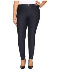 Hue Plus Size Essential Denim Leggings Deep Indigo Wash Women's Jeans Black