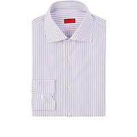 Isaia Men's Striped Frank Shirt Pink