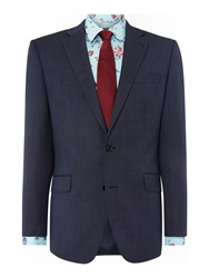 New And Lingwood Plyton Birdseye Notch Collar Tailored Fit Suit Ja Blue