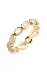 Women's Melinda Maria 'Isla' Stackable Band Ring Gold Moonstone