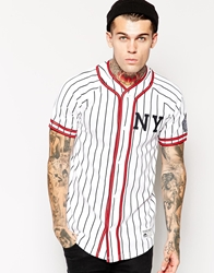 Majestic New York Karyo Striped Baseball Jersey White