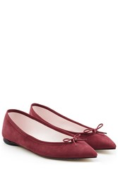 Repetto Brigitte Suede Ballerinas Red
