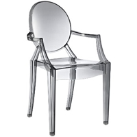 Amazon.Com Casper Dining Armchair In Clear Dining Chairs