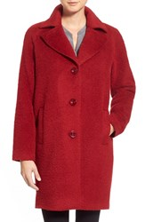 Women's Kristen Blake Wool And Alpaca Blend Notch Collar Coat
