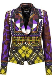 Just Cavalli Printed Stretch Crepe Blazer Multi