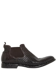 Alberto Fasciani Woven Leather Ankle Boots