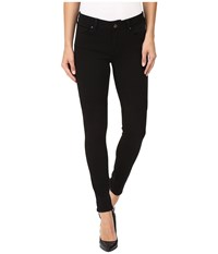 Mavi Jeans Adriana Mid Rise Super Skinny In Double Black Tribeca Double Black Tribeca Women's
