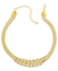 2028 Necklace Gold Tone Twisted Multi Chain Strand Necklace