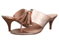 Tahari Rowan Rosegold Dove Metallic Women's Sandals Brown