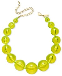 Inc International Concepts Gold Tone Graduated Acrylic Bead Collar Necklace Only At Macy's Yellow