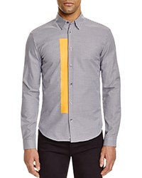 Mcq By Alexander Mcqueen Googe Orange Stripe Slim Fit Button Down Shirt Dogtooth