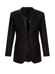 Gieves And Hawkes Notch Lapel Wool Blazer Black