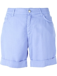 Blumarine High Waist Shorts Blue
