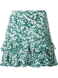 Dresscamp Floral Print Flared Skirt Green