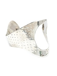 Y Project Perforated Hand Cuff Metallic