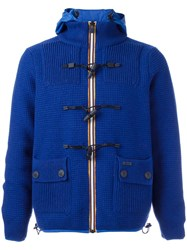 Bark Hooded Jacket Blue