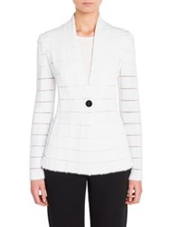 Giorgio Armani Long Sleeve Knit Jacket White