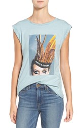Pam And Gela Women's 'Frankie' Embellished Graphic Tee