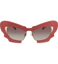 Prabal Gurung Pg1 Sculptural Mask Cat Eye Sunglasses Red