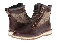 Timberland Britton Hill 6 Warm Lined Leather And Fabric Boot Brown Full Grain Harris Tweed Wool Fabric Men's Boots