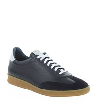 Sandro Sx 01 Suede Trim Sneakers Male Blue