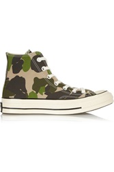 Converse Chuck Taylor All Star '70 Printed Canvas High Top Sneakers Green