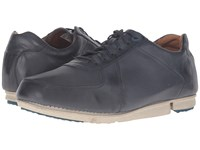 Clarks Triturn Race Dark Blue Leather Men's Lace Up Casual Shoes Navy