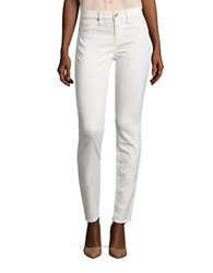 7 For All Mankind Mock Pocket Stitched Skinny Jeans Winter White