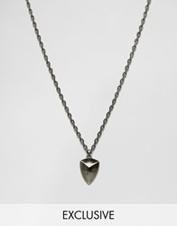 Simon Carter Antiqued Shield Necklace Exclusive To Asos Silver