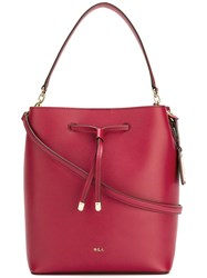 Lauren Ralph Lauren 'Debby' Drawstring Shoulder Bag Red