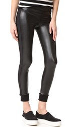David Lerner Cuffed Vegan Leggings Classic Black