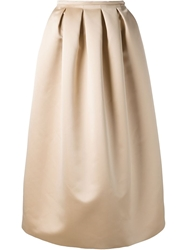 Rochas Long Full Skirt Nude And Neutrals